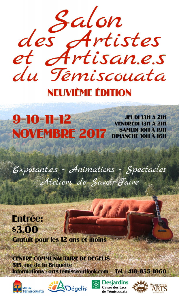 Affiche Salon des Artisans 2017 - Fond 2blogostitredatesprixinfos - ORANGE b 2